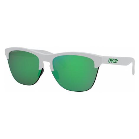 Oakley Man OO9374 Frogskins™ Lite - Frame color: White, Lens color: Green, Size 63-10/138