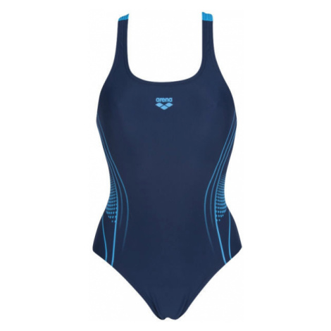 Arena FAIRNESS SWIM PRO BACK ONE PIECE B dark blue - Women's one-piece swimsuit