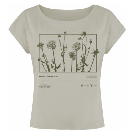 Twenty One Pilots - Dandelion Rectangle - Girls shirt - grey