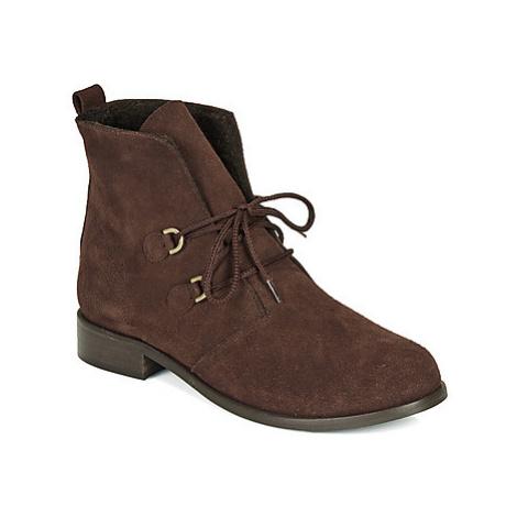 So Size JATTINE women's Mid Boots in Brown