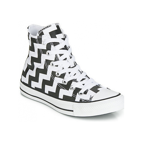 Converse CHUCK TAYLOR ALL STAR GLAM DUNK CANVAS HI women's Shoes (High-top Trainers) in White