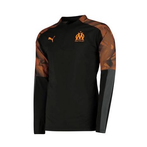 Olympique de Marseille 1/4 Zip Training Top - Black Puma