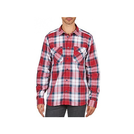 Wesc JOEY men's Long sleeved Shirt in Red