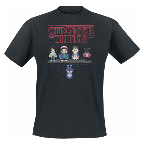 Stranger Things - 8 bit - T-Shirt - black