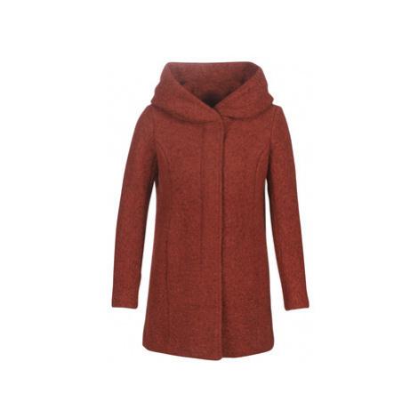 Only ONLSEDONA women's Coat in Bordeaux