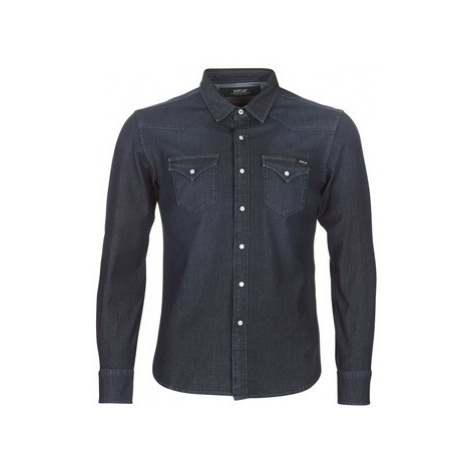 Replay - men's Long sleeved Shirt in Blue