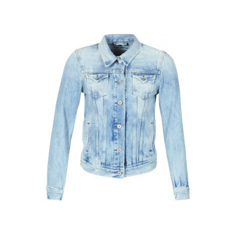 Pepe jeans THRIFT women's Denim jacket in Blue