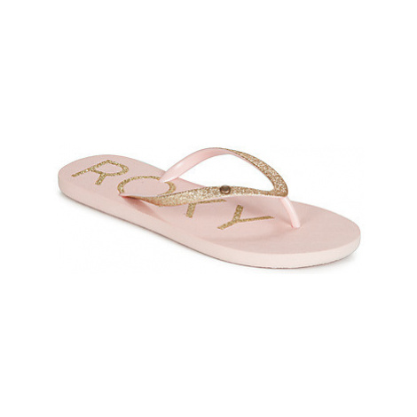 Roxy VIVA GLITTR IV J SNDL LPC women's Flip flops / Sandals (Shoes) in Pink