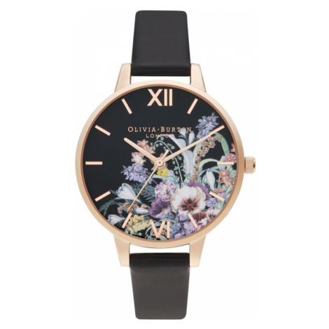 Olivia Burton Vegan Black & Rose Gold Enchanted Garden Watch
