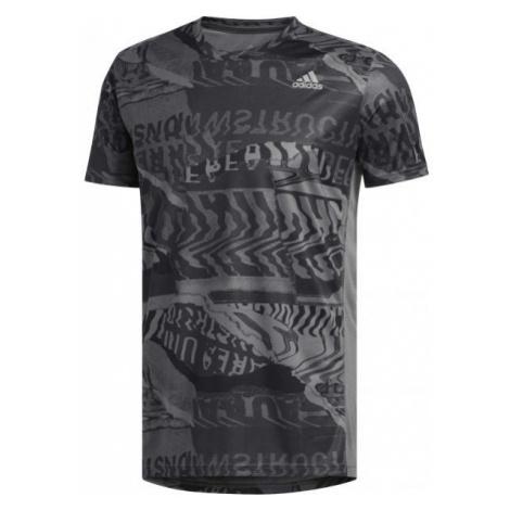 adidas OWN THE RUN TEE grey - Men's sports T-shirt