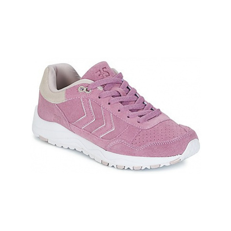 Hummel 3-S SUEDE women's Shoes (Trainers) in Pink
