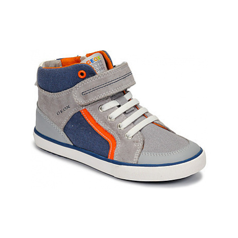 Geox B KILWI BOY boys's Children's Shoes (High-top Trainers) in Grey