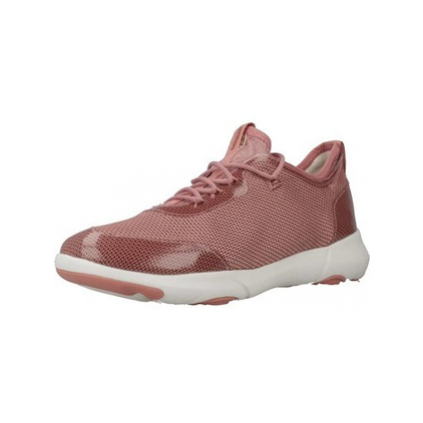 Geox D NEBULA X women's Shoes (Trainers) in Pink