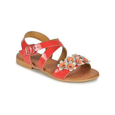 Citrouille et Compagnie GRATOU girls's Children's Sandals in Red