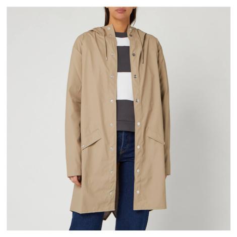RAINS Women's Long Jacket - Beige - S/M