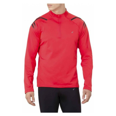 Asics ICON WINTER LS 1/2 ZIP TOP red - Men's running T-shirt