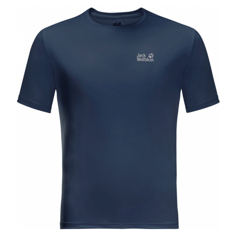 Jack Wolfskin Mens Tech T-Shirt-Dark Indigo-2XL