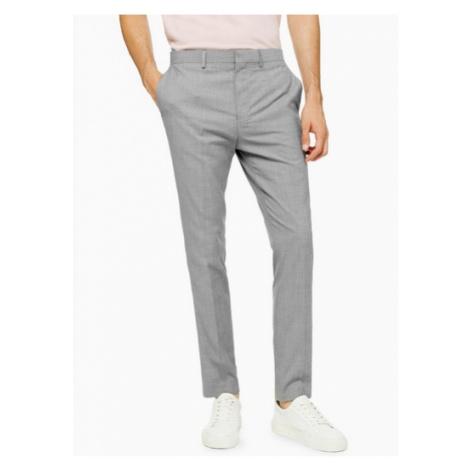 Mens Mid Grey Grey Marl Skinny Fit Suit Trousers, Mid Grey Topman