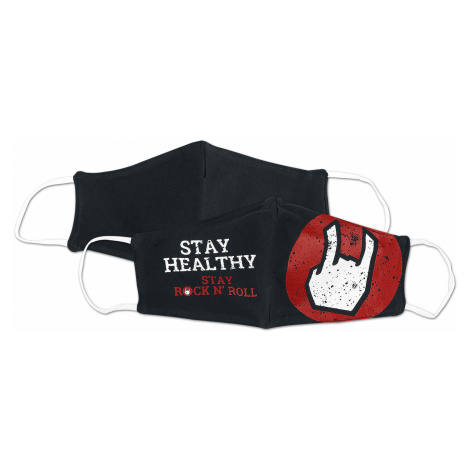 EMP - Stay Healthy - Mask - black-white-red