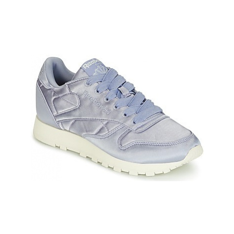 Reebok Classic CLASSIC LEATHER SATIN women's Shoes (Trainers) in Purple
