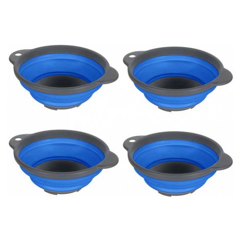 Regatta Folding Bowls (Set of 4)-Oxford Blue