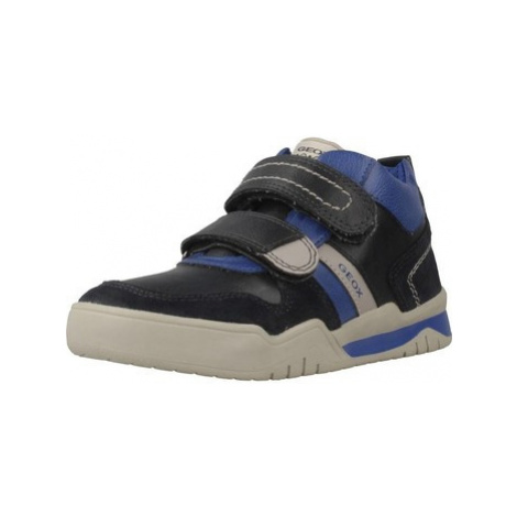 Geox J PERTH B.D boys's Children's Shoes (High-top Trainers) in Blue