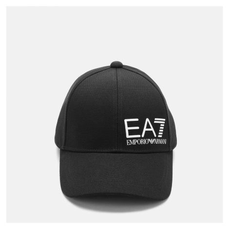 EA7 Men's Snapback Cap - Black Armani