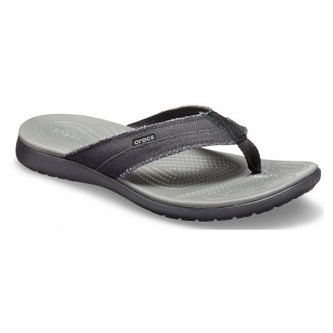 flip flops Crocs Santa Cruz Canvas Flip - Black/Slate Gray - men´s