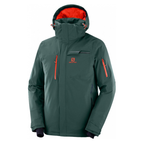 Salomon BRILLIANT JKT green - Men's ski jacket
