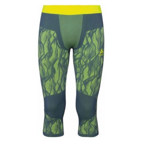 Odlo BL BOTTOM 3/4 BLACKCOMB dark green - Men's 3/4 length functional pants