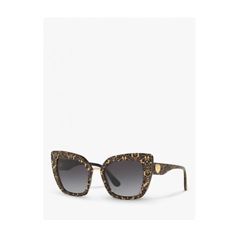 Dolce & Gabbana DG4359 Women's Cat's Eye Sunglasses, Damasco Glitter/Black Gradient