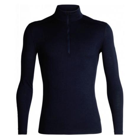 Icebreaker OASIS LS HALF ZIP dark blue - Men's functional T-shirt Icebreaker Merino