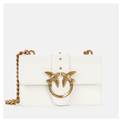 Pinko Women's Love Mini Icon Jewel Shoulder Bag - White
