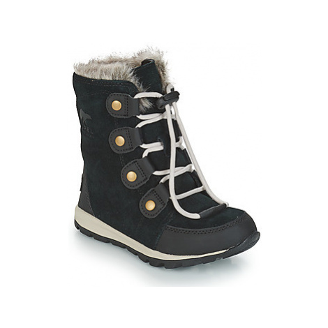 Sorel YOUTH WHITNEY SUEDE girls's Children's Mid Boots in Black