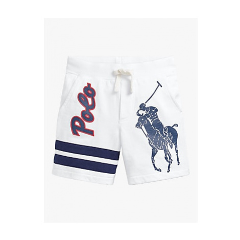 Polo Ralph Lauren Boys' Large Pony Shorts, White