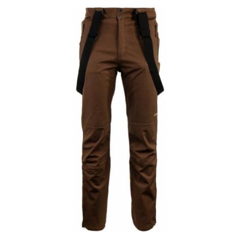 ALPINE PRO RUBENS brown - Men's ski pants