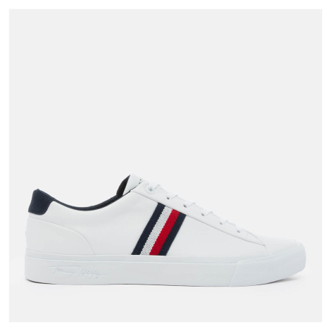 Tommy Hilfiger Men's Corporate Leather Low Top Trainers - White - UK