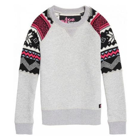 Superdry COURCHEVEL KNIT MIX JUMPER grey - Women's sweater
