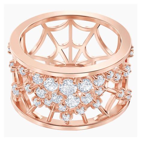 Precisely Motif Ring, White, Rose-gold tone plated Swarovski