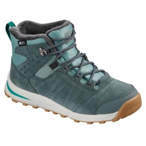 Salomon UTILITY TS CSWP J blue - Kids' winter shoes