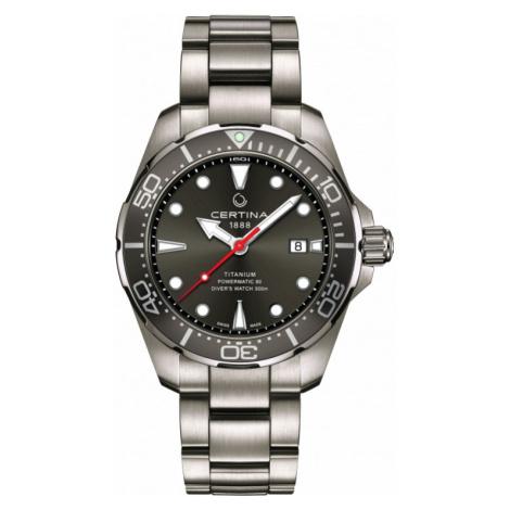 Certina DS Action Diver Powermatic 80 Watch C0324074408100