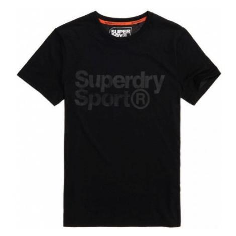 Superdry CORE SPORT GRAPHIC TEE black - Men's T-Shirt