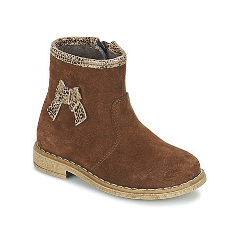 Citrouille et Compagnie ANHA girls's Children's Mid Boots in Brown