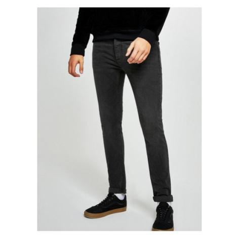 Mens Grey Washed Black Stretch Skinny Jeans, Grey Topman