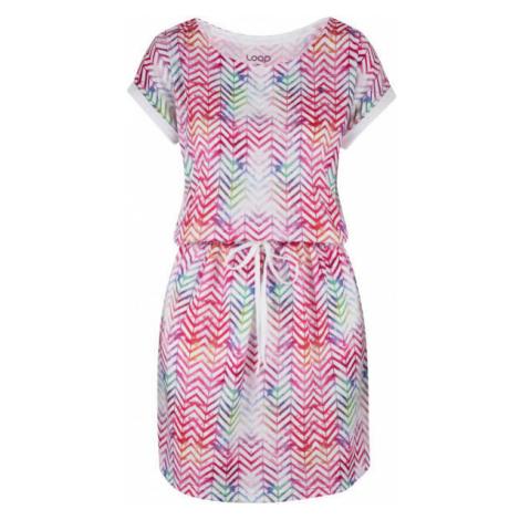 Loap ALORKA pink - Women's dress