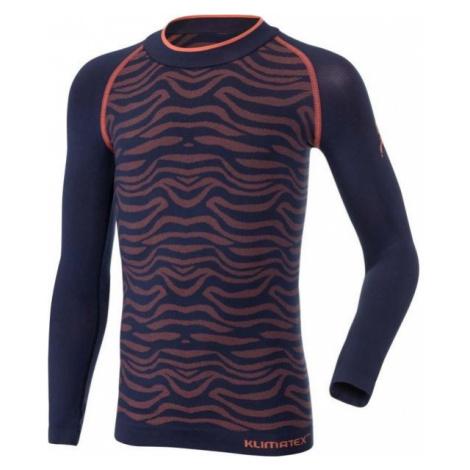 Klimatex ONELLA dark blue - Girls' functional seamless T-shirt