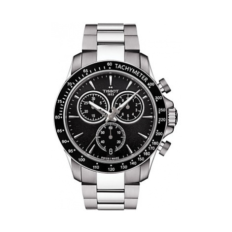 Tissot T1064171105100 Men's V8 Chronograph Date Bracelet Strap Watch, Silver/Black