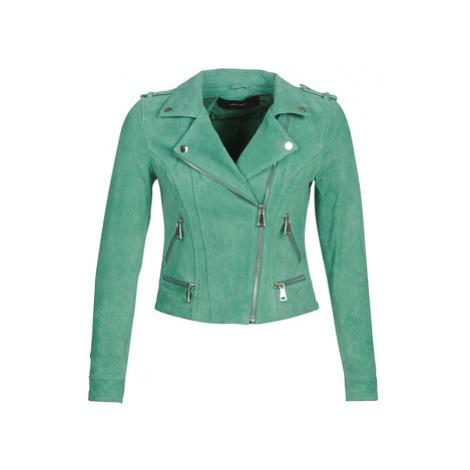 Vero Moda VMROYCE women's Leather jacket in Green