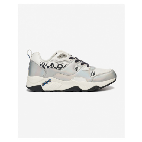 Napapijri Trainers Leaf Low Iridescent Sneakers White Silver