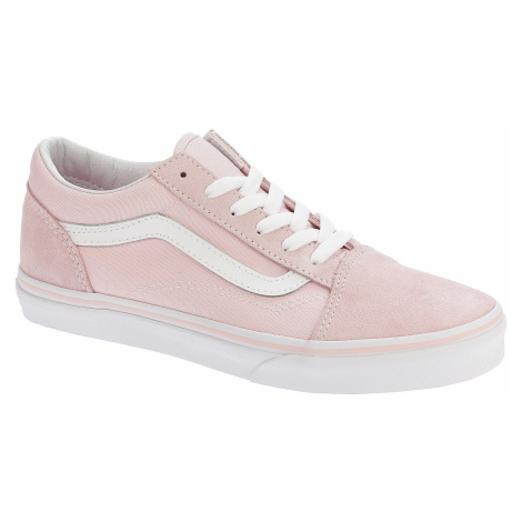shoes Vans Old Skool - Suede Canvas/Chalk Pink/True White - unisex junior